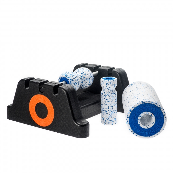 Philfit Bundle Expert Soft, weiß / blau mit Boden- und Wandhalterung