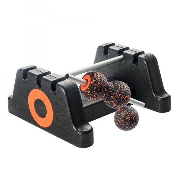 Philfit Bundle Fit Medium, schwarz / orange mit Boden- und Wandhalterung