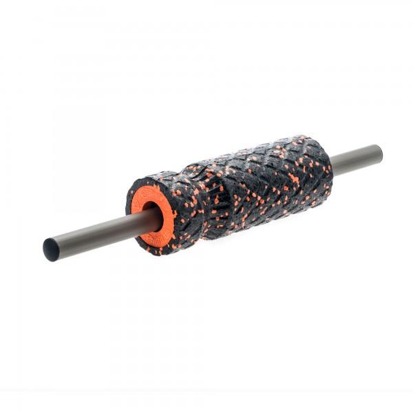 Achillesfreund (Small Roll), schwarz / orange mit Faszienstange