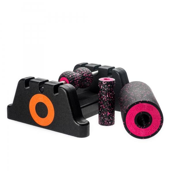 Philfit Bundle Expert Medium, schwarz / pink mit Boden- und Wandhalterung