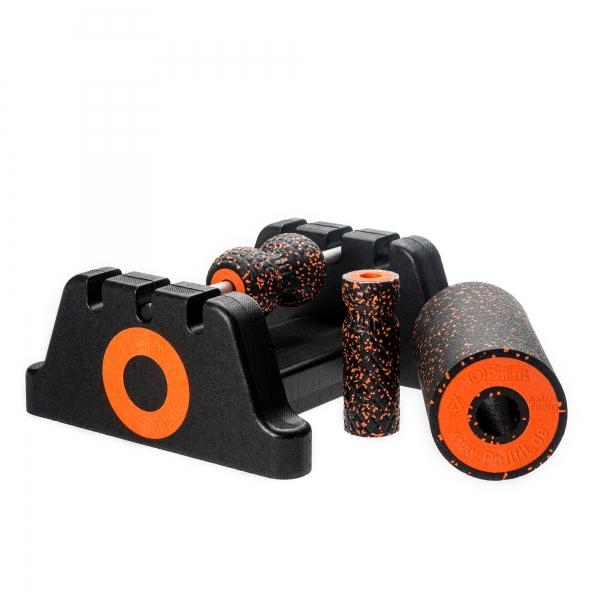 Philfit Bundle Expert Medium, schwarz / orange mit Boden- und Wandhalterung