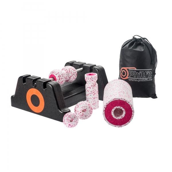 Philfit Classic Set Soft, weiß / pink mit Boden- und Wandhalterung